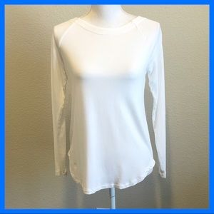 Cabi white long sleeve top XS